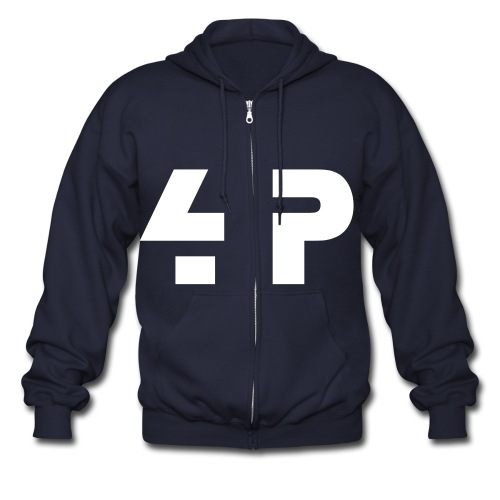 4Pages Burning Men's Zipper Hoodie - Men's Zip Hoodie