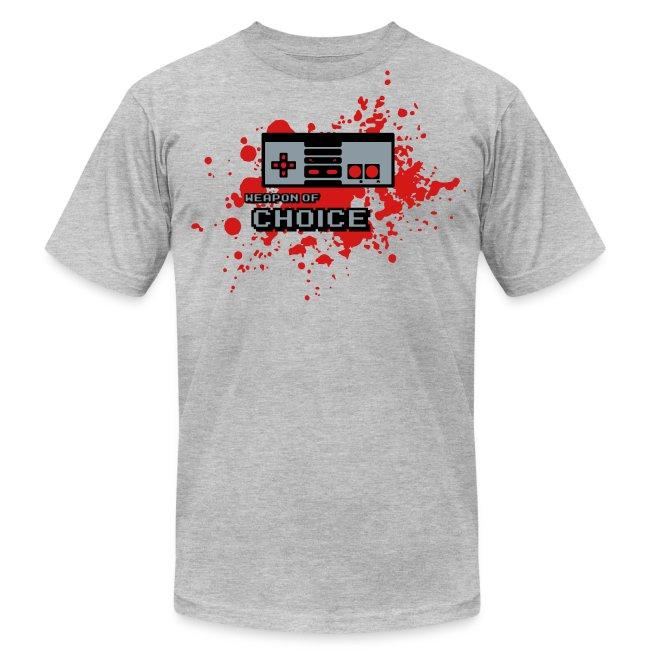 NES - Weapon of Choice - Metallic Silver finish - Men s T-Shirt by American  Apparel b8b86cdcb