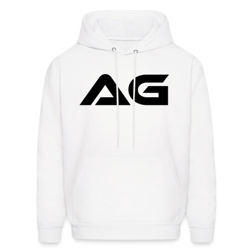 White w/ Black Letter AG Hoody - Men's Hoodie