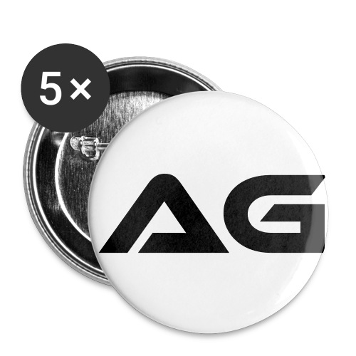 White w/ Black Letter AG Small Pin - Small Buttons