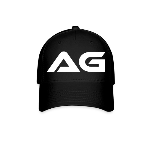 Black w/ White Letter AG Baseball Cap - Baseball Cap