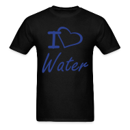 T-Shirts ~ Men's T-Shirt ~ I Heart Water Men's T