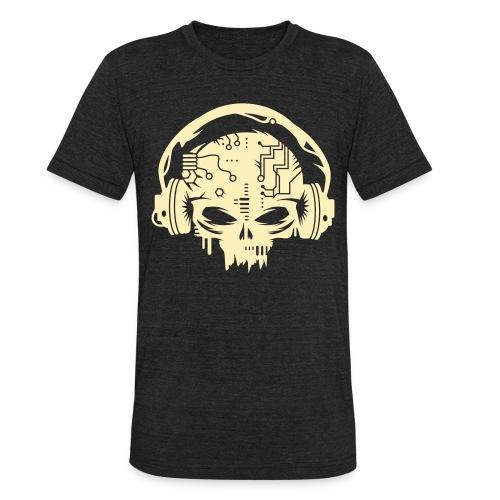 Mens Vintage CyberSkull  - Unisex Tri-Blend T-Shirt