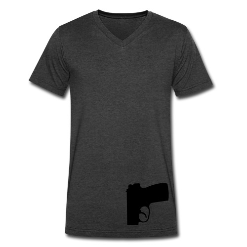 Black gun solid tee v.1 - Men's V-Neck T-Shirt by Canvas