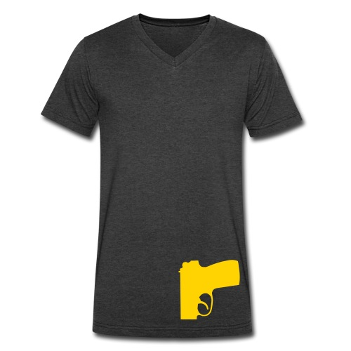 gold solid gun tee v.2 - Men's V-Neck T-Shirt by Canvas