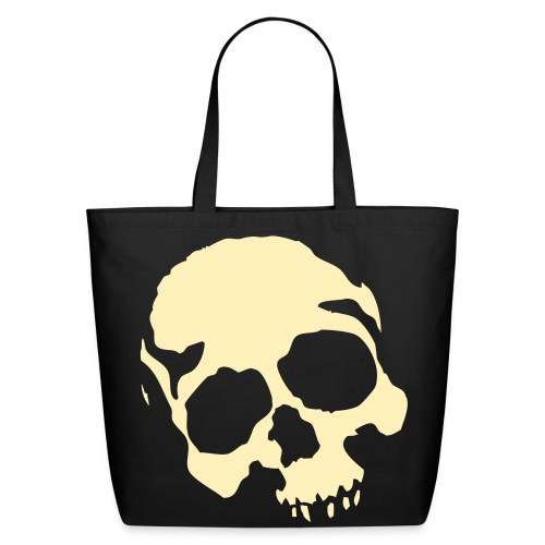 eco friendly skully bag - Eco-Friendly Cotton Tote