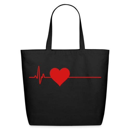 Heartbeat flatline bag - Eco-Friendly Cotton Tote