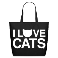 Bags & backpacks ~ Eco-Friendly Cotton Tote ~ I Love Cats