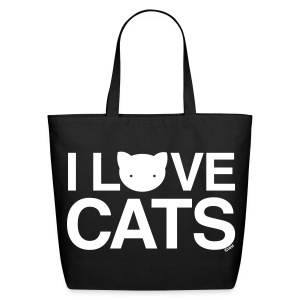 I Love Cats - Eco-Friendly Cotton Tote