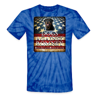 T-Shirts ~ Unisex Tie Dye T-Shirt ~ Official Dogs Against Romney Rottweiler Tie Dye Tee