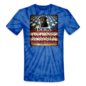 Official Dogs Against Romney Rottweiler Tie Dye Tee - Unisex Tie Dye T-Shirt
