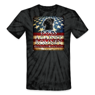 T-Shirts ~ Unisex Tie Dye T-Shirt ~ Official Dogs Against Romney Black Lab Tie Dye Tee