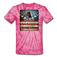 T-Shirts ~ Unisex Tie Dye T-Shirt ~ Official Dogs Against Romney Doberman Tie Dye Tee
