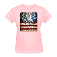 T-Shirts ~ Women's T-Shirt ~ Official Dogs Against Romney Jack Russell Womens Tee