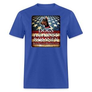 Official Dogs Against Romney Doberman  Tee - Men's T-Shirt