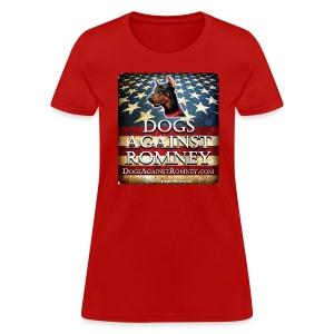 Official Dogs Against Romney Doberman Womens Tee - Women's T-Shirt