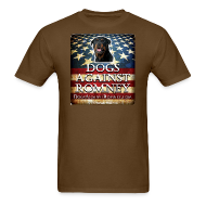 T-Shirts ~ Men's T-Shirt ~ Official Dogs Against Romney Rottie Tee