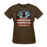 Women's T-Shirts ~ Women's T-Shirt ~ Official Dogs Against Romney Rottie Women's Tee