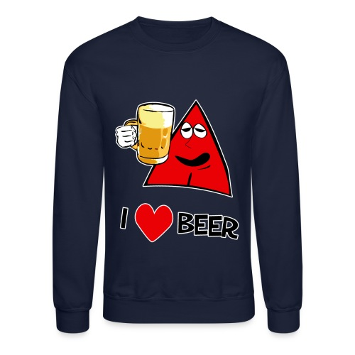 I Love Beer sweatshirt - Crewneck Sweatshirt