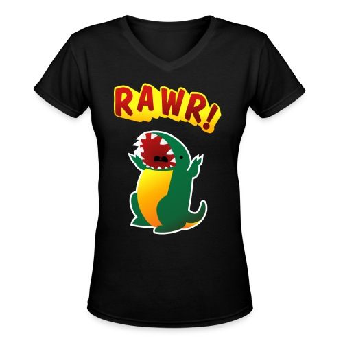Ladies V-Neck : RAWR - Women's V-Neck T-Shirt