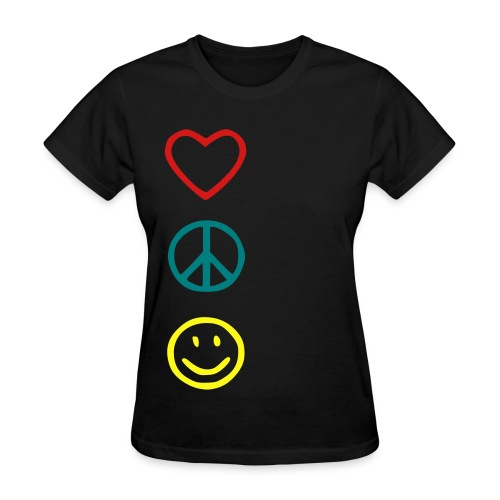 love, peace, happiness - Women's T-Shirt