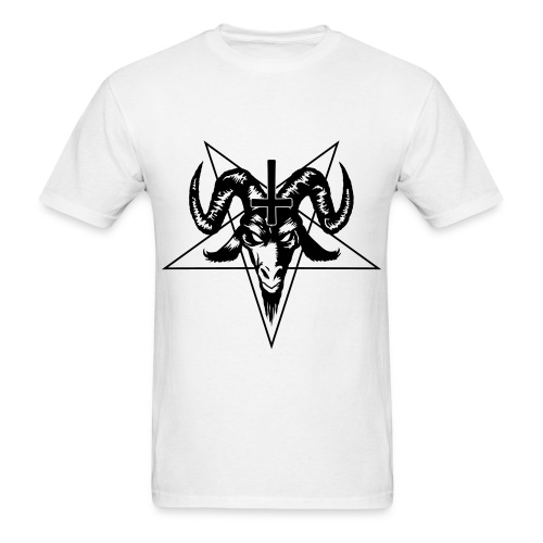 Satanic - White/Black - Men's T-Shirt