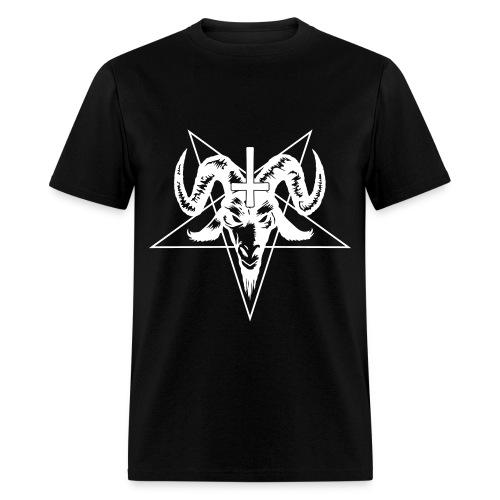 Satanic - Black/White - Men's T-Shirt