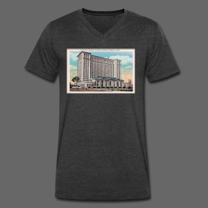 Michigan Central Station - Men's V-Neck T-Shirt by Canvas