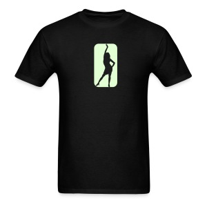 Glow in the dark Girl T Shirt. - Men's T-Shirt