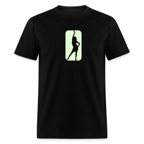 Glow in the dark Girl T Shirt. - Men's T-Shirt