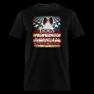 T-Shirts ~ Men's T-Shirt ~ Official Dogs Against Romney Cocker Papillion Tee