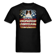 T-Shirts ~ Men's T-Shirt ~ Official Dogs Against Romney Cocker Papillion Tee