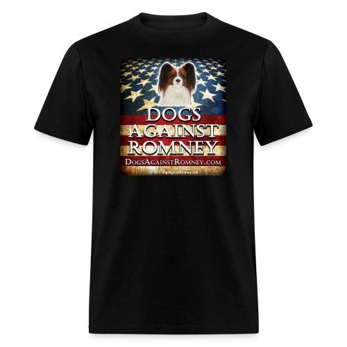 Official Dogs Against Romney Cocker Papillion Tee - Men's T-Shirt