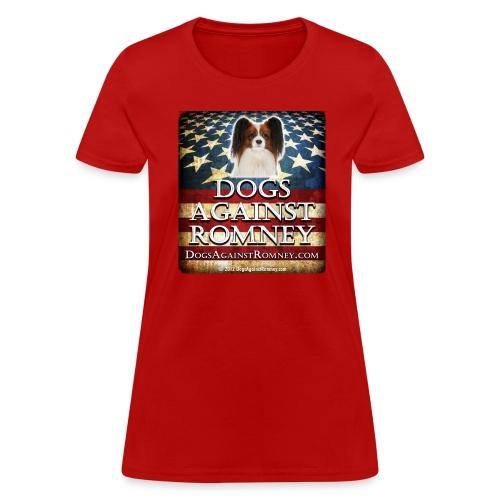 Official Dogs Against Romney Cocker Papillion Women's Tee - Women's T-Shirt