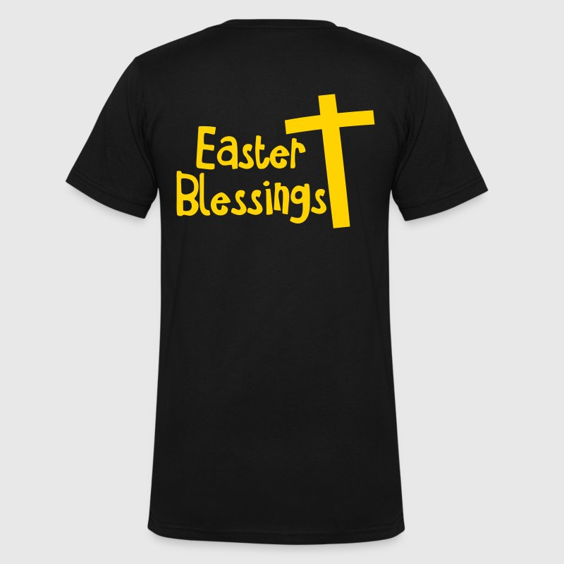 EASTER blessings with a Christian cross T-Shirts - Men's V-Neck T-Shirt by Canvas