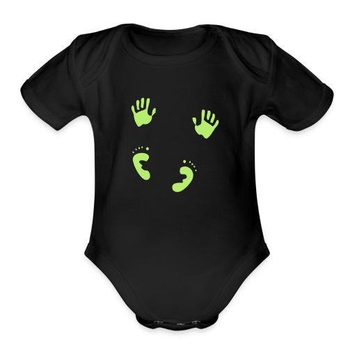 baby prints - Organic Short Sleeve Baby Bodysuit