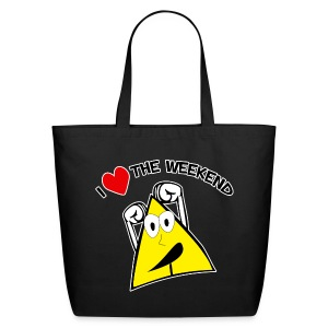 I Love The Weekend Tote Bag - Eco-Friendly Cotton Tote
