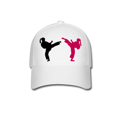 Black pink female Martial Artists adult baseball cap