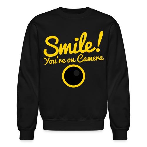 Smile You're On Camera - Black - Crewneck Sweatshirt