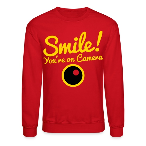 Smile You're On Camera - Red - Crewneck Sweatshirt