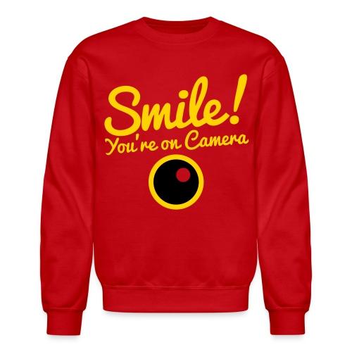 Smile You're On Camera - Red - Crewneck Sweatshirt
