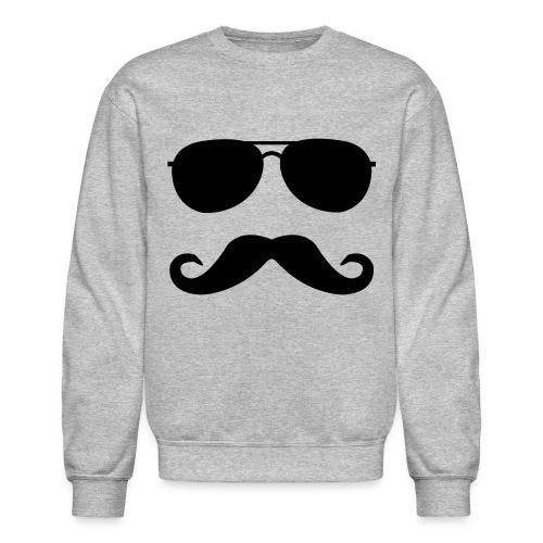 Mustache And Glasses - Gray - Crewneck Sweatshirt