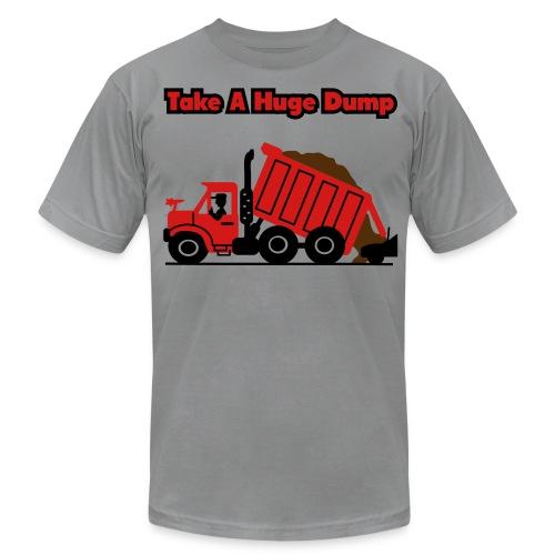 Take A Huge Dump - Dump Truck - Mens T-Shirt - Men's Fine Jersey T-Shirt