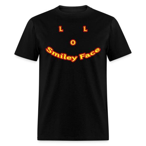 LOL Smiley Face – Mens T-Shirt - Men's T-Shirt