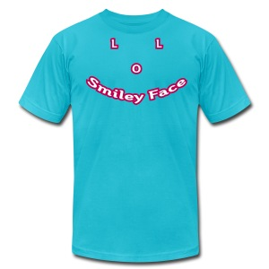 LOL Smiley Face – Mens T-Shirt - Men's T-Shirt by American Apparel