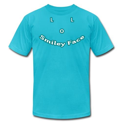 LOL Smiley Face – Mens T-Shirt - Men's Fine Jersey T-Shirt