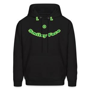 LOL Smiley Face – Mens Hoodie - Men's Hoodie