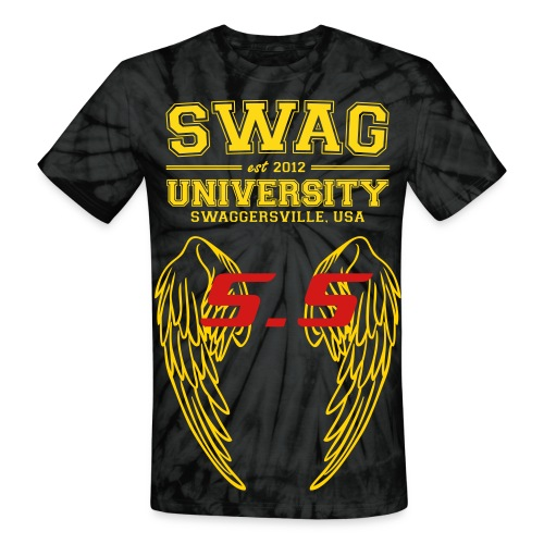 SWAG UNIVERSITY (S.U) AND SAVAGE STARS WINGS - Unisex Tie Dye T-Shirt