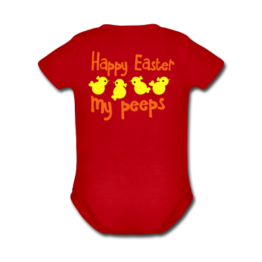 HAPPY EASTER my peeps (little chickens)   Baby Bodysuits