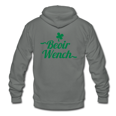 IRISH BEOIR (Irish for beer) wench Zip Hoodies/Jackets